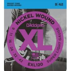 D'ADDARIO XL 09/42 NICKEL PER ELETTRICA
