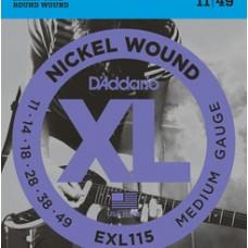 D'ADDARIO XL 11/49 NICKEL PER ELETTRICA