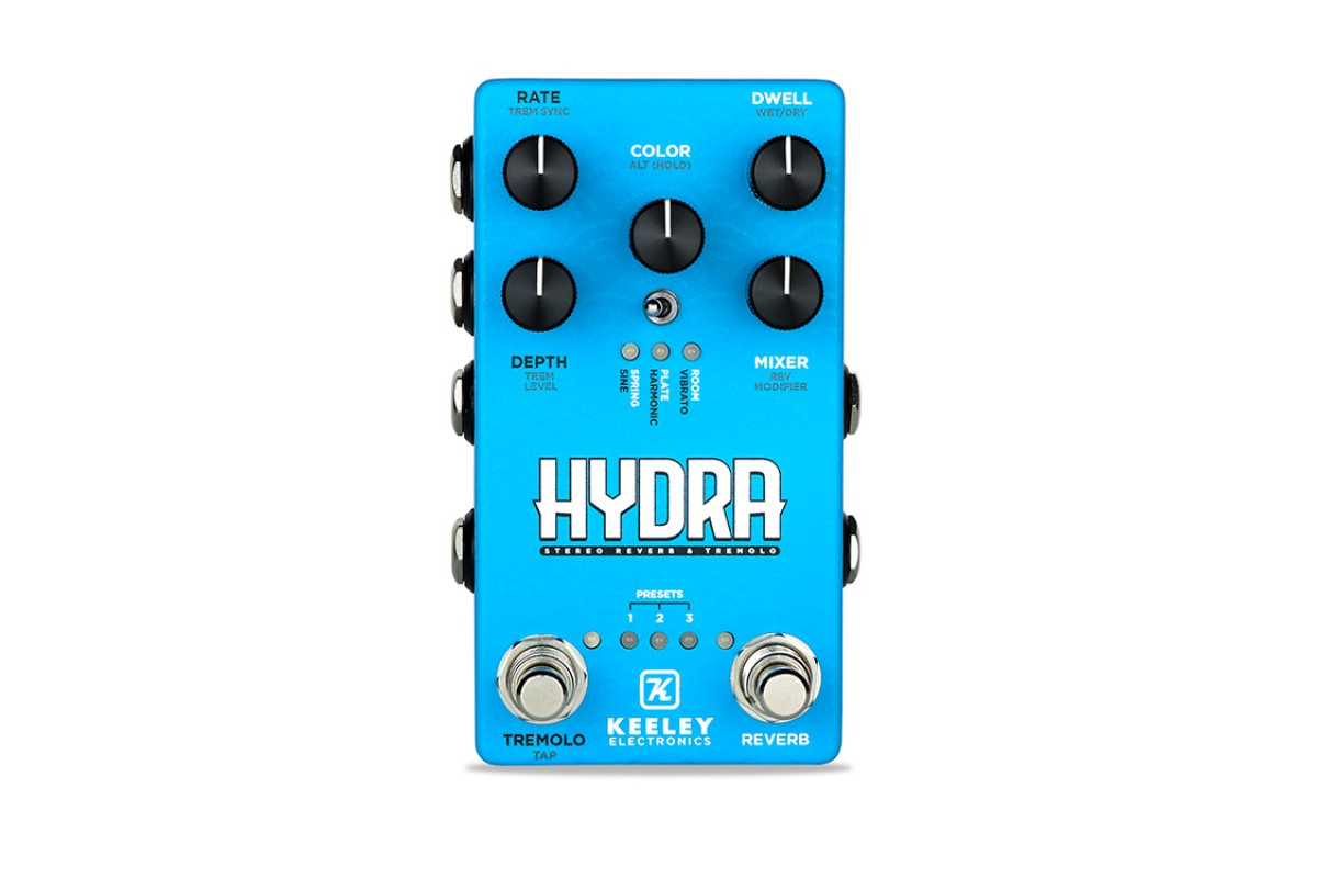 KEELEY HYDRA STEREO REVERB AND TREMOLO
